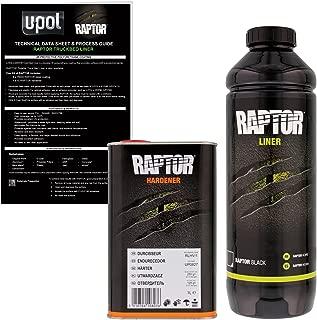 U-POL Raptor Black Urethane Spray-On Truck Bed Liner & Texture Coating, 1 Liter