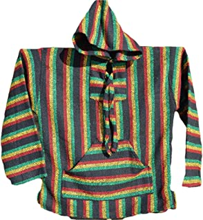 Molina Mexican Premium Baja Hoodie Rasta Pullover Poncho Jerga Drug Rug Sweatshirt