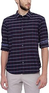 BASICS Slim Fit Navy Blazer Checks Shirt