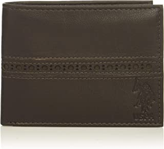 U.S. Polo Assn. mens Perforated Bifold Men's Leather Wallet Wallet