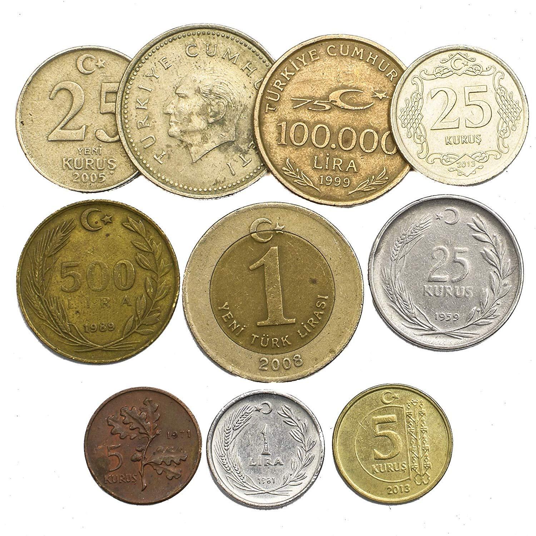 10 عملات من تحصيل العملات من تركيا العملات التركية القديمة كورس بن ليرة اختيار مثالي لبنك العملات الخاص بك وحاملي العملات المعدنية وألبوم العملات المعدنية Buy Online At Best Price In