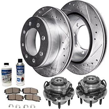 OE Replacement Rotors w//Ceramic Pads F+R See Desc. 03 Ford F-350 Super Duty