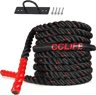comprar comparacion CCLIFE Cuerda de Batalla Entrenamiento Battle Rope Cuerda Batalla Crossfit 9m 12m 15m Diámetro 38mm