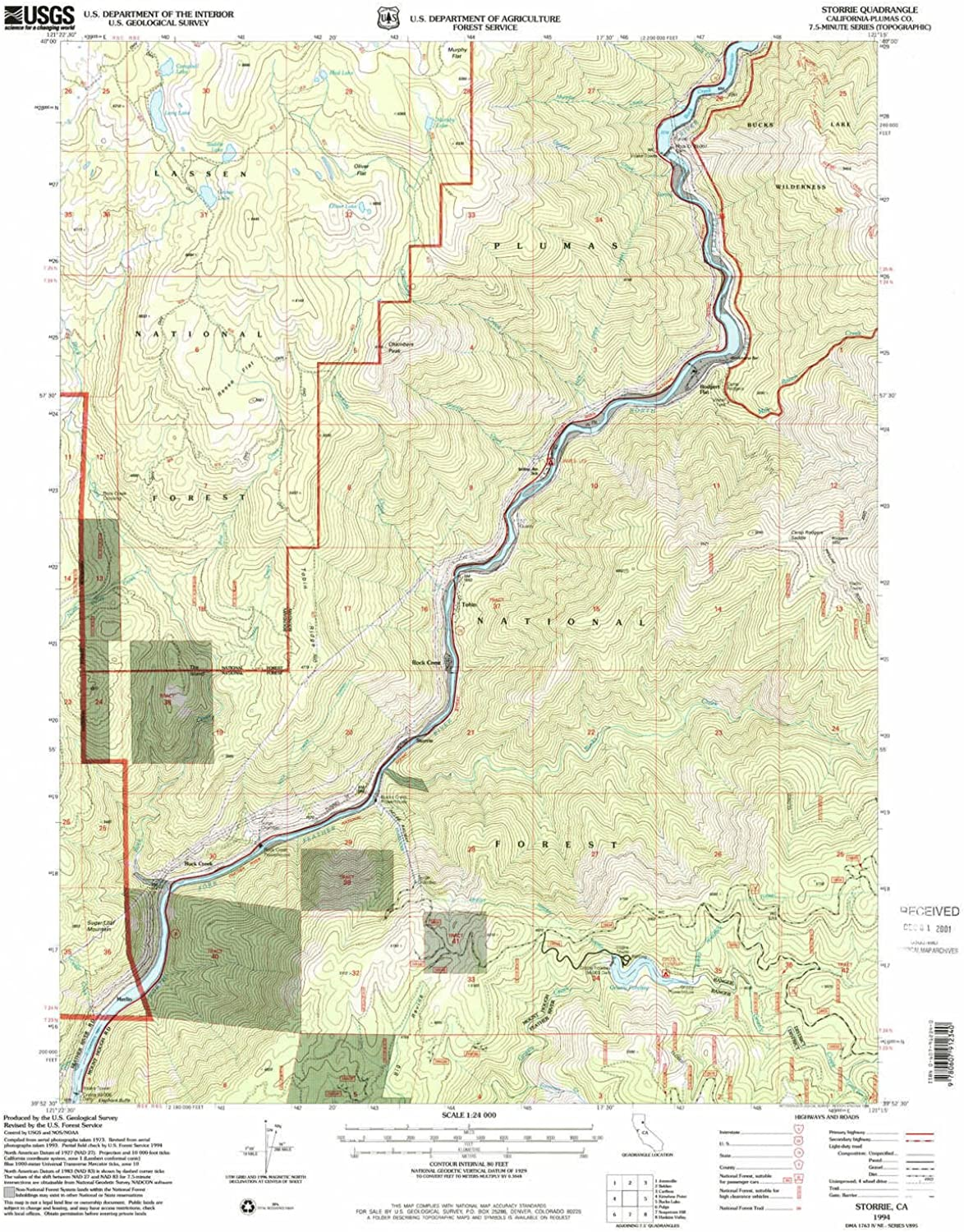 Storrie CA topo map, 1 24000 Scale, 7.5 X 7.5 Minute, Historical, 1994, Updated 1998, 26.7 x 21.9 in