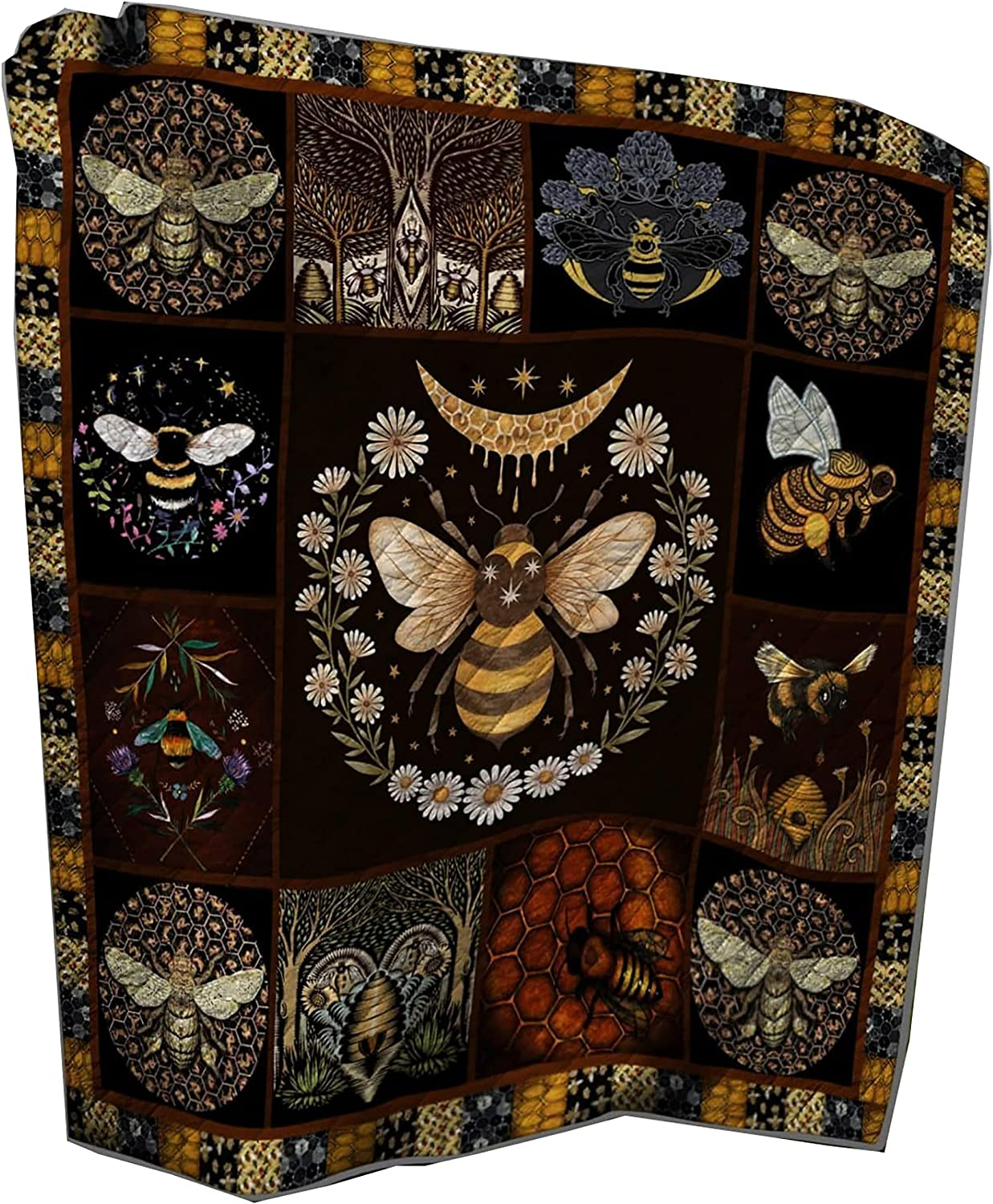 Bee 100% quality warranty! Blanket Bumble Burt s B Baby Bees Department store Sherpa