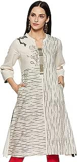 BIBA Women's Cotton Straight Kurta