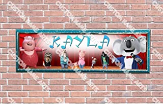 Personalized Customized Sing Movie 2016 Poster With Frame, With Your Name On It, Party Door Poster, Room Art Decoration, Wall Decor
