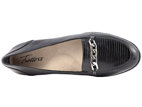 Black Lizard Anastasia Stamp Leather Trotters Cqx5tHWP