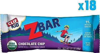 Clif Kid ZBAR - Organic Granola Bars - Chocolate Chip - (1.27 Ounce Energy Bars, Kids Snacks, 18 Count)
