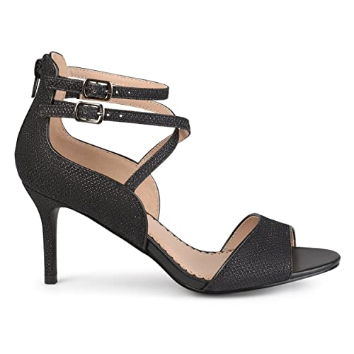 bd0f5b7fa7a0 Black Heels 3 Inch Strappy Heel  Amazon.com