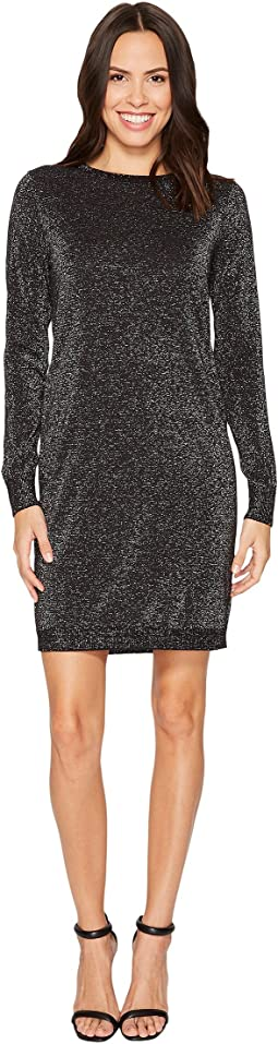 MICHAEL Michael Kors - Lurex Crew Neck Sweater Dress