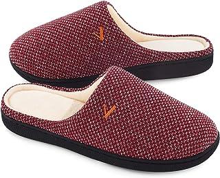 Women's Slip On Slippers Two-Tone Memory Foam House Shoes...