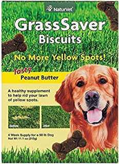 NaturVet GrssSaver Biscuits Peanut Butter Flavor 11.1oz (Pack of Two)