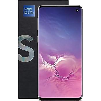 Samsung Galaxy S10 - Teléfono Desbloqueado con Certificado de 128 GB y versión de 12 Meses, Color Negro (renovado) (SM5G973UZKAXAA)