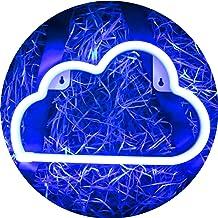 LED Blue Cloud Neon Light, Cute Neon Cloud Sign, Room Decor Battery or USB Powered 4.5V Art LED Decorative Lights Night Li...