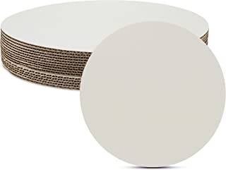 Sturdy Corrugated 14 inch White Cake or Pizza Circle for Displaying Cakes by MT Products (15 Pieces)