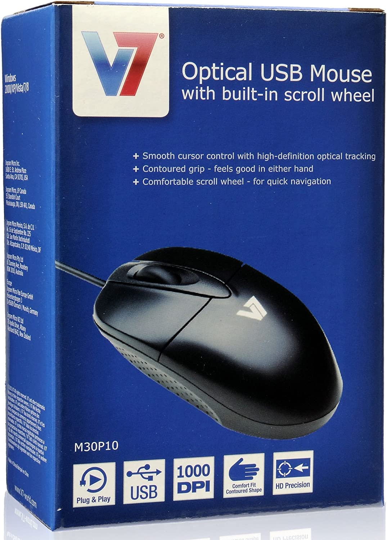 V7 Standard USB Optical Mouse