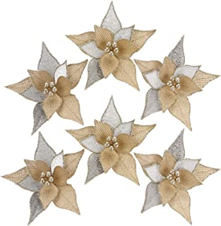burlap christmas flowers