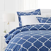 Pinzon 300 Thread Count 100% Cotton Percale Duvet Cover Set - King, Bijou Blue