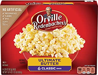 Orville Redenbacher's Ultimate Butter Popcorn, 3.29 Ounce Classic Bag, 6-Count (12-Count)