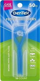 DenTek Floss Threaders | For Braces, Bridges, and Implants | 50 Count