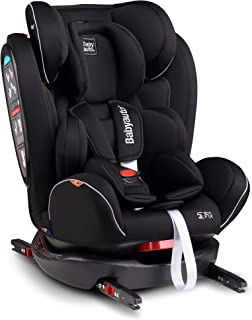 Babyauto NOE FIX 0123 Car Seat (Suitable for 0-12Years), Black Isofix Base