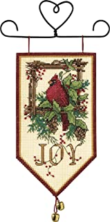 Dimensions Cardinal Joy Mini Christmas Banner Counted Cross Stitch Kit, 14 Count Ivory Aida, 5'' x 10''