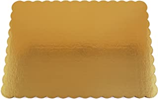 Southern Champion Tray 1665 Sturdy Corrugated Double Wall Cake Pad, Half Sheet, Gold Metallic, Greaseproof, 19