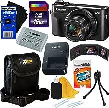 Canon PowerShot G7 X Mark II Digital Camera w/ 1 Inch Sensor and tilt LCD Screen, Wi-Fi & NFC Enabled (Black) International Version + 9pc 16GB Accessory Kit w/HeroFiber Gentle Cleaning Cloth