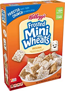 (Discontinued Version) Kellogg's Breakfast Cereal, Frosted Mini-Wheats, Original, Low Fat, Excellent Source of Fiber, 18 oz Box(Pack of 4)