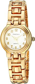 Viva Time Women's 'Timetech 14K Gold plated' Quartz Stainless Steel Casual Watch, Color:Two Tone (Model: 2679L)