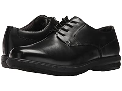 Nunn Bush Mason Street Waterproof Plain Toe Oxford with KORE Slip Resistant Walking Comfort Technology (Black) Men