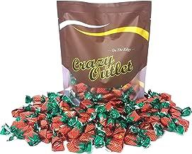 CrazyOutlet Pack - Arcor Strawberry Buds Bon Bon Filled Hard Candy, Sachet Wrap, 2 Pounds