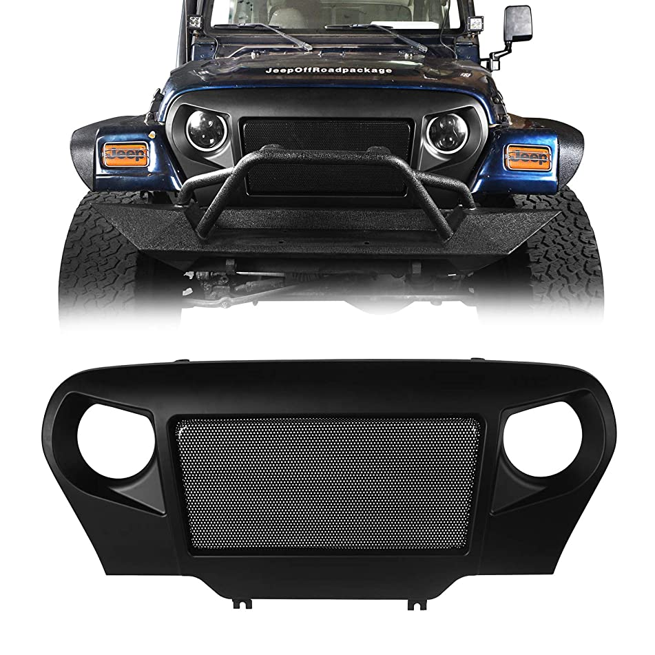 u-Box Jeep Wrangler TJ 97-06 Front Cover Grille w/Steel Mesh Insert