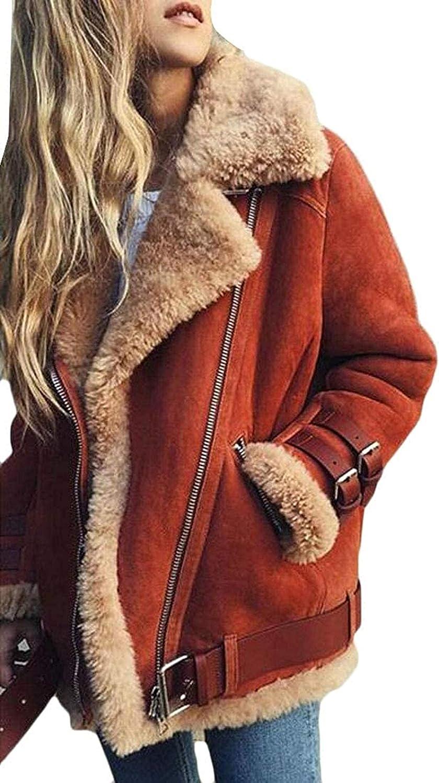New arrival Women Winter Warm Zipper Belted Suede Shearling J Wool Coat Lamb Popular brand in the world