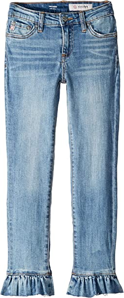 "23"" Ankle Skinny Jeans with Ruffle Hem in Iris (Big Kids)"