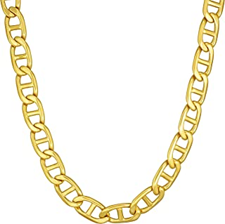Lifetime Jewelry Gold Necklace for Women & Men [ 6mm Mariner Link Chain ] 20X More Real 24k Plating Than Other Statement Necklaces - Durable Gold Chain with Lifetime Replacement Guarantee 16-30 inch