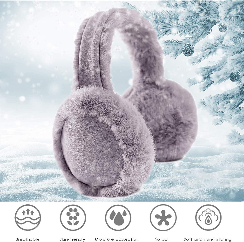 iFCOW Orejeras de invierno para mujeres y ni/ñas de peludo y abrigado para orejas