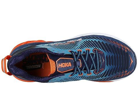 Cheap 2018 Unisex Hoka One One Arahi Medieval Blue/Red Orange Visit Cheap Online Genuine Sale Online E8jhmrA