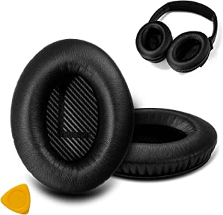 Headphone Ear Cushion Replacement with Soft Memory Foam Grey Earpad for Bose Headphones (Black)