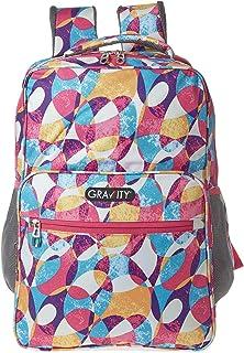 Gravity GRWR08470 School Backpack for Girls - Multi Color