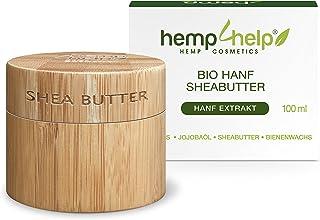 SHEA BUTTER HEIL-SALBE 100% BIO für trockene, entzündete, rissige Haut, Schuppenflechte und Narben mit feuchtigkeitsspendender Hnf Ol-Olivenöl-Bienenwachs-Arganöl-JojobaIöl-100ml KÖRPER-CREME