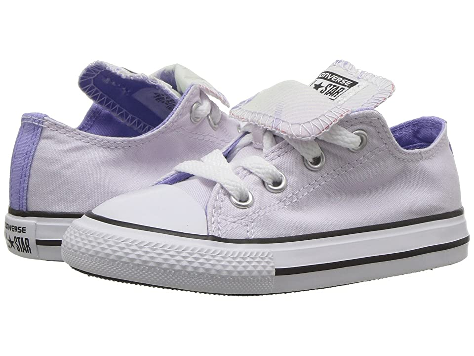 Converse Kids Chuck Taylor All Star Double Tongue Palm Trees Ox (Infant/Toddler) (Barely Grape/Twilight Pulse/White) Girls Shoes
