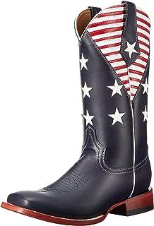 حذاء فيرني رجالي Americana بلون أزرق داكن على شكل حرف S