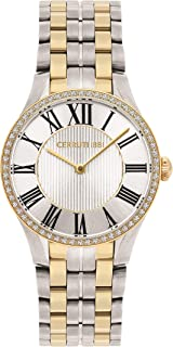 Cerruti 1881 Modica Women Analogue Watch With White Dial And Silver And Gold Plated Stainless Steel Bracelet - CRM26404