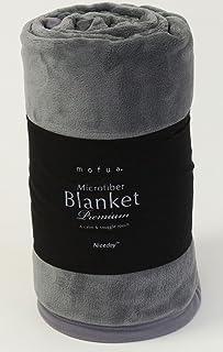 mofua モフア プレミアム マイクロファイバー 毛布 《 シングル 》 [ グレー ] 品質保証付き