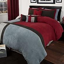 Bedford Home Rhea 7 Piece Suede Comforter Set - Queen