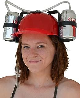 Fairly Odd Novelties Beer Soda Guzzler Helmet Drinking Party Hat, Red