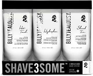 Billy Jealous Shave3some Travel-Size Men's Pre-Shave, Shaving Cream & After Shave Trio