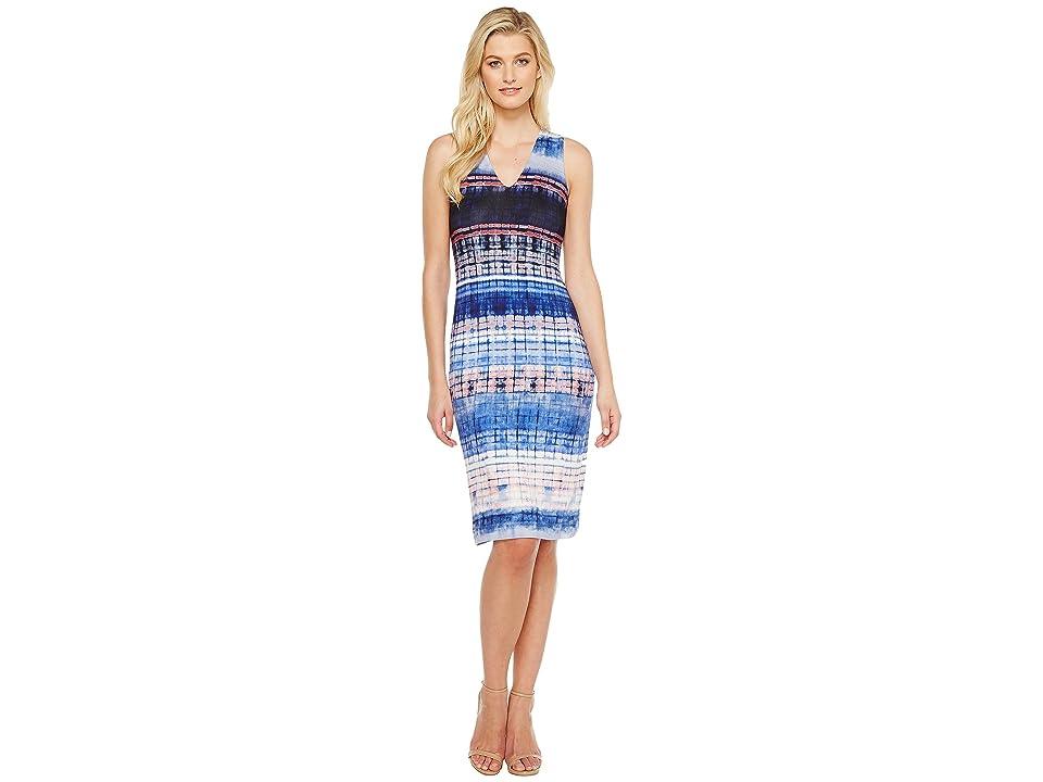 Karen Kane V-Neck Midi Dress (Print) Women